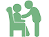 vector icon showing care services